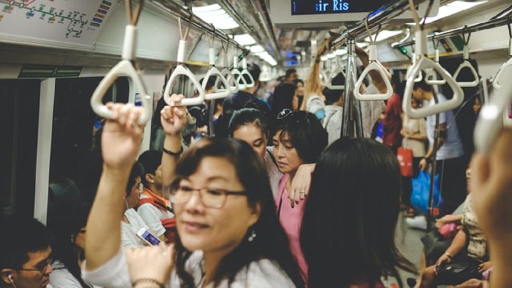 Foule dans le métro